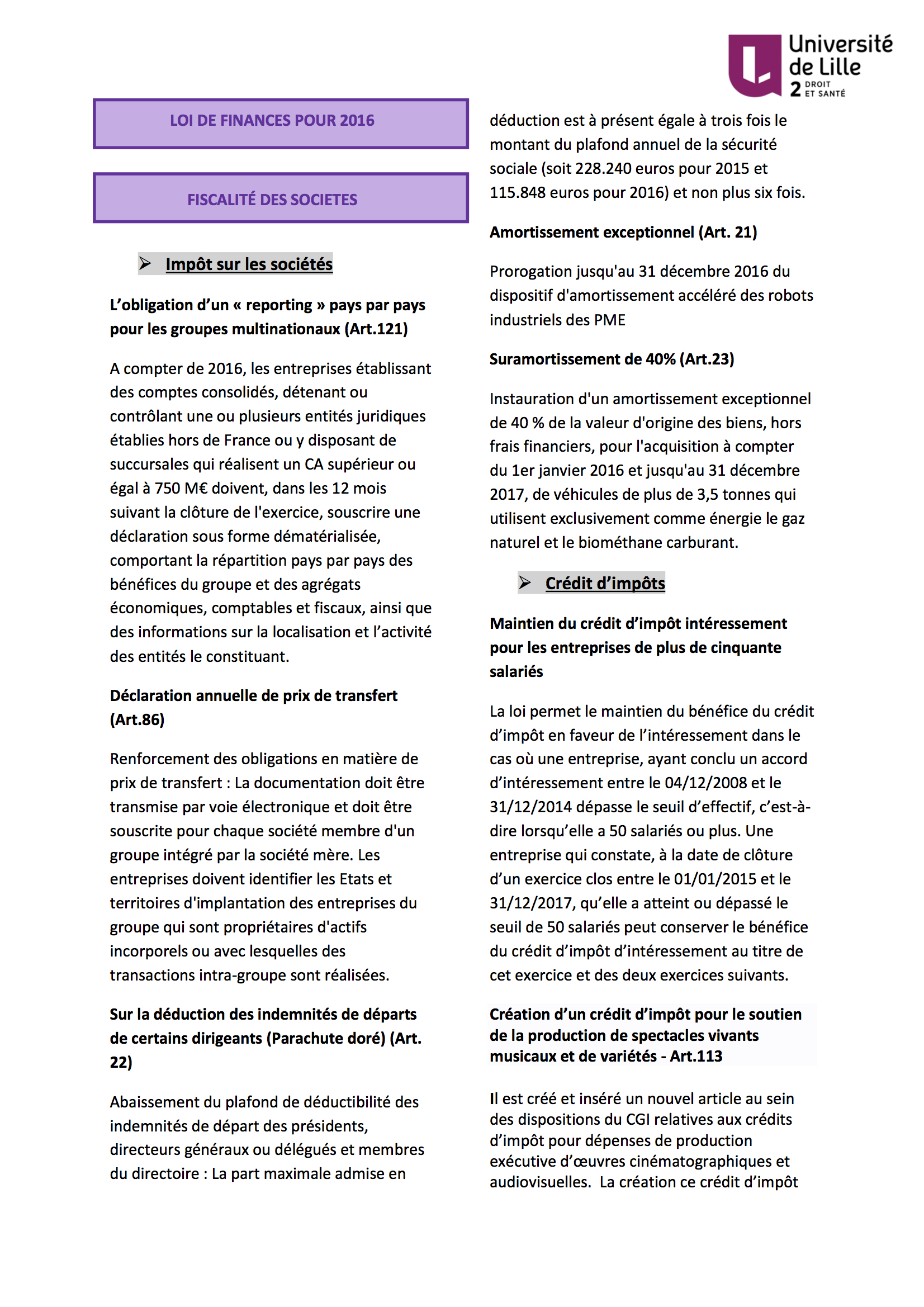 Feuille fiscale n°2
